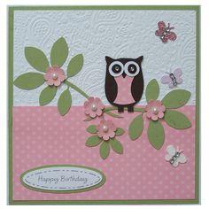 Handmade Owl Happy Birthday Card £3.00