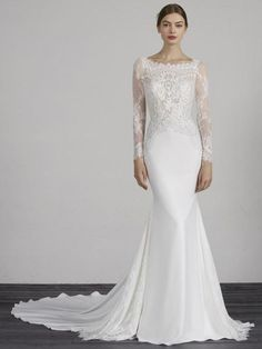 Browse our full range of designer wedding dresses with options to suit every bride. Look and feel beautiful for your special day with the help of LUV Bridal Plain Wedding Dress, Stunning Wedding Dresses, Pronovias Wedding Dress, Bridal And Formal, Bridal Boutique, Dream Dress, The Dress, Bridal Dresses, Marie