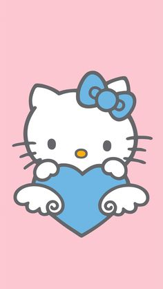 Hello Kitty Wallpaper Blue And Pink Hd