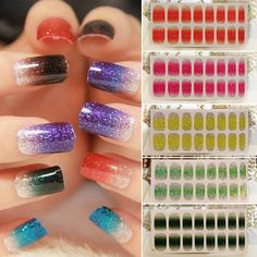 Glitter Foils Nail Stickers Decal Design Tips Wraps DIY Decoration Nail Art #Unbranded