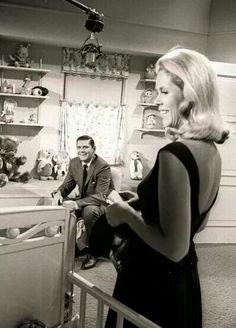 Elizabeth and Dick York behind the scenes