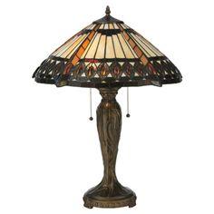 """Meyda Tiffany Cleopatra 25"""" H Table Lamp with Bowl Shade"""