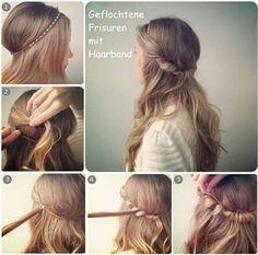 Die 15 Besten Bilder Von Haarband Frisur Hairstyle Ideas Cute