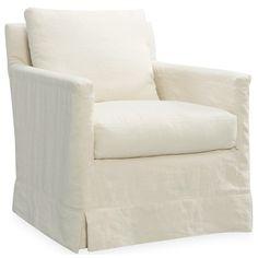 Layla Grayce Ramona Slipcovered Swivel Chair - Too expensive, but I like the look.