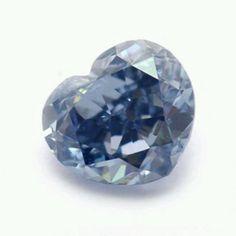 0.19ct fancy deep blue heart shaped Diamond @ Natural Color Diamond Assoc.