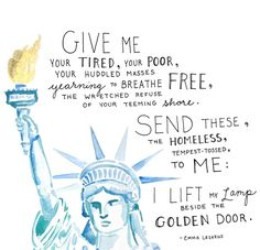 Statue Of Liberty Print – Bulletin Statue Of Liberty Quote, Liberty Quotes, Give Me Your Tired, Give It To Me, Protest Signs, Liberty Print, Teen Vogue, Vintage Design, Yearning