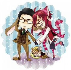 Black butler, Kuroshitsuji, Grell Sutcliff, Ronald Knox, William T. Spears