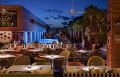 Bar Centro with Pool View at SLS Hotel South Beach, Miami where all guests that book through @5staralliance receive a $50.00 resort credit during their stay.