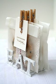 Source: None via Myra on PinterestI'm so going to use clothespins at Christmas time to wrap gifts!