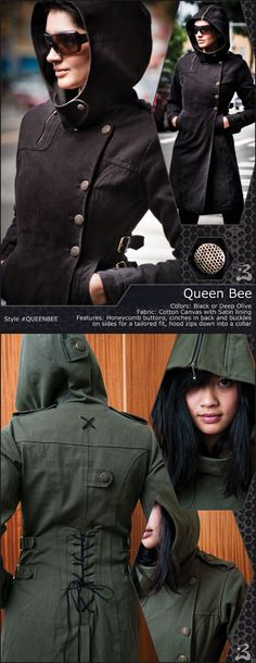 Queen Bee coat-- very Eiryss. Must replicate. 6e3a174c54