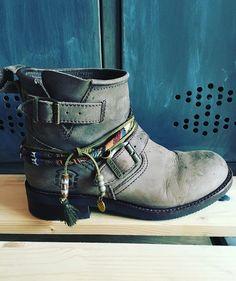 Sendra boots with handmade bootbelt Boho, ibiza, hippie, gypsy
