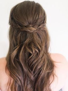 Long Wavy Hairstyles 2015 with Rope Braided Crown