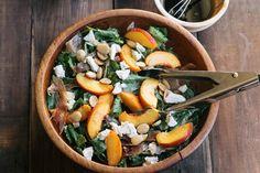peach and prosciutto salad