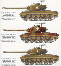 Military Weapons, Military Art, M26 Pershing, 4th Infantry Division, Us Armor, War Thunder, Ww2 Tanks, Military Photos, Military Equipment