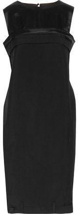 Maison Margiela Satin-Paneled Wool And Mohair-Blend Mini Dress