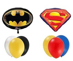 Batman Vs Superman Balloon Decoration Kit by Party Supplies @ niftywarehouse.com #NiftyWarehouse #Geek #Fun #Entertainment #Products