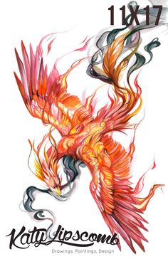 Smoke Phoenix Print sold by Katy Lipscomb. Shop more products from Katy Lipscomb on Storenvy, the home of independent small businesses all over the world. Flame Tattoos, Foot Tattoos, Body Art Tattoos, Ear Tattoos, Phoenix Drawing, Phoenix Art, Smoke Tattoo, Fire Tattoo, Tattoo Ideas