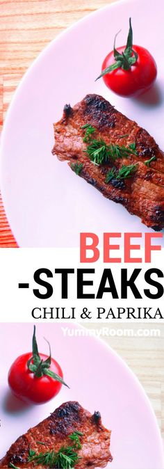 Chili & Paprika Beef Steaks, simple recipe
