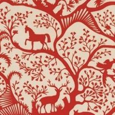 Antiquity Horse and Elk Print Fabric $50.00 from shop.tradingplaceinteriors - Would make a great picture collage
