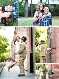 fireman and his love so need to do this and in an army theme too! Firefighter Engagement Photos, Engagement Pictures, Engagement Shoots, Wedding Engagement, Firefighter Pictures, Moon Wedding, Our Wedding Day, Dream Wedding, Fireman Wedding
