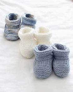 Knit Baby Booties Pattern When it comes to basic knitting, it doesn't get much better than these adorable baby booties.When it comes to basic knitting, it doesn't get much better than these adorable baby booties. Baby Booties Knitting Pattern, Knitted Booties, Knitting Patterns Free, Knit Patterns, Free Knitting, Knit Baby Shoes, Beginner Knitting, Knitting Yarn, Baby Socks