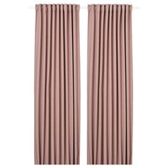 Room darkening curtains prevent most light from entering and provide privacy both day and night by blocking the view into the room from outside. Thick Curtains, Ikea Curtains, Room Darkening Curtains, Best Ikea, Pet Bottle, Pink Room, Home Room Design, Curtain Rods, Houses