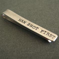 Star Wars Han Shot First Tie Bar - Spiffing Jewelry Han Solo