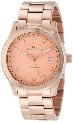 Lucien Piccard Men's Cima Rose Tone Dial Watch -- You can find more details by visiting the image link. Lucien Piccard, Beautiful Watches, Gold Watch, Detail, Rose, Clocks, Image Link, Stuff To Buy, Peace