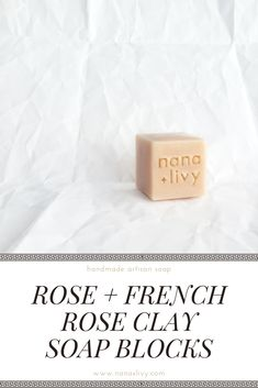 Do you love the sweet, floral scent of rose in your favorite recipe? Try our Rose Soap Block so your skin can fall in love too. Rose Clay, Cold Process Soap, Skincare, Place Card Holders, Canada, Favorite Recipes, Sweet, Floral, Handmade