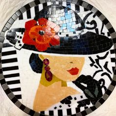 Mosaic Glass, Stained Glass, Mosaic Crafts, Archery, Projects To Try, Collage, Tables, People, House