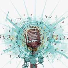 Microphone Music Background, Leisure And Entertainment, Music, Musical Instruments PNG and PSD