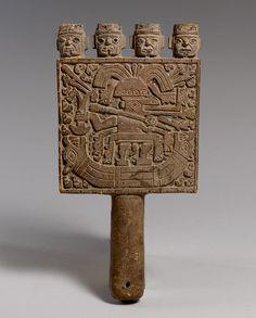 Mirror Frame, 9th–12th century Peru; Wari-Chimú Wood