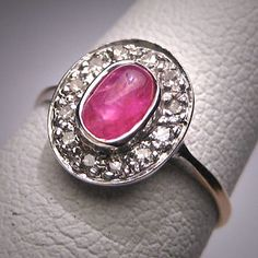 Antique Victorian Ruby Diamond Ring Vintage by AawsombleiJewelry, $1895.00