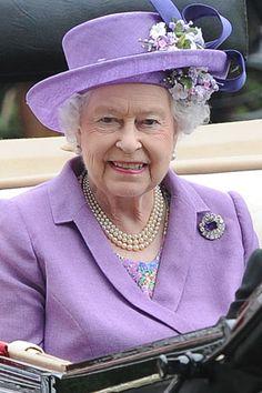 Queen Elizabeth in Lavender