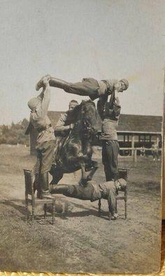 Finnish cavalry training.