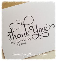 Thank You Cards   Personalized Thank You Cards   Family Stationery Set   Personalized Stationery   Personalized Stationary by thegatheringplaceco on Etsy