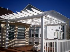 The pergola is not built to give shade as it has number of openings. Usually the climbers like vines are grown on them and this will provide you shade to some extent. But if you want them to provide you shade then the option before yo