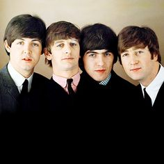 """The Beatles are a famous English band that originated in Liverpool, England. They became """"The Beatles"""" in 1960 and consisted of four very talented and incredibly influential musicians; John Lennon, Paul McCartney, George Harrison, and Ringo Starr. Ringo Starr, George Harrison, The Beatles, Beatles Photos, Beatles Party, Beatles Songs, Paul Mccartney, John Lennon, World Music"""