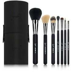 Sigma Beauty Sigma Beauty Travel Kit - Make Me Classy - Black ($86) ❤ liked on Polyvore featuring beauty products, makeup, makeup tools, makeup brushes, beauty, wash bag, black makeup bag, travel toiletry case, cosmetic purse and make up bag