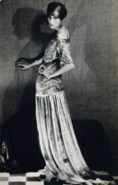 The Bones of Paris: women of 1929. Peggy Guggenheim (here by Man Ray, in a Paul Poiret dress) was a wealthy patron of the arts and friend to the artists of Montparnasse.