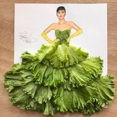 Lettuce dress by Edgar Artis