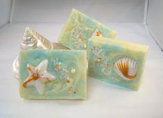 Beach Walk Soap Handmade Ocean Shells Shea Butter by TallulahSoaps, $6.00