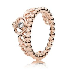 The Pandora Rose™ My Princess Ring features a tiara set with a sparkling cubic zirconia in a rose gold hue. Shop your Pandora Stackable Rings here. Pandora Bracelets, Pandora Jewelry, Jewelry Rings, Pandora Pandora, Jewelry Box, Jewelry Armoire, Cheap Pandora, Antique Jewelry, Cz Jewellery