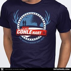 """Get """"True Candidate"""" from artist fishbiscuit today only, April 19, for $10 at RIPT Apparel. www.riptapparel.com"""