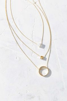 Just Geo Layering Necklaces