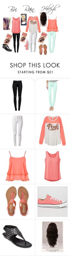 """3's Company"" by rainleigh911 on Polyvore featuring J Brand, Love Moschino, rag & bone, WearAll, prAna, Aéropostale, Converse, BCBGeneration and WigYouUp"