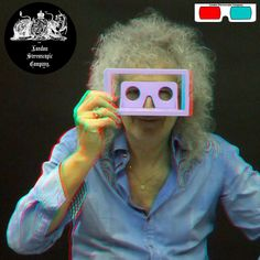 Brian May And The Owl - 3D Anaglyph Photography.