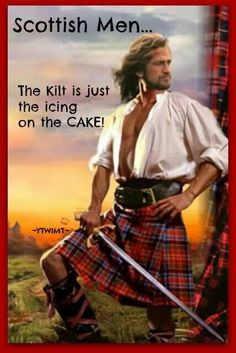 Those men are ragging with testosterone they were kilts as an excuse to free ball it has nothing to do with femininity #unculturedswine  #kiltedpride
