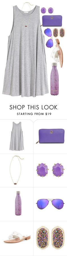 """100 post of happiness! Post 8"" by mikayla7lynn ❤ liked on Polyvore featuring H&M, Tory Burch, Kendra Scott, S'well, Ray-Ban, Jack Rogers, women's clothing, women, female and woman"