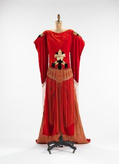 french evening dress 1921